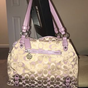 Purple & Tan Coach handbag